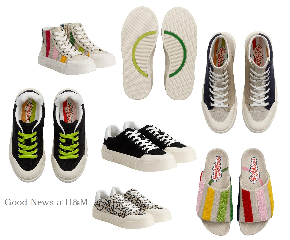 GOOD NEWS x H&M - a limited collection of unisex sneakers that leave a smaller ecological footprint