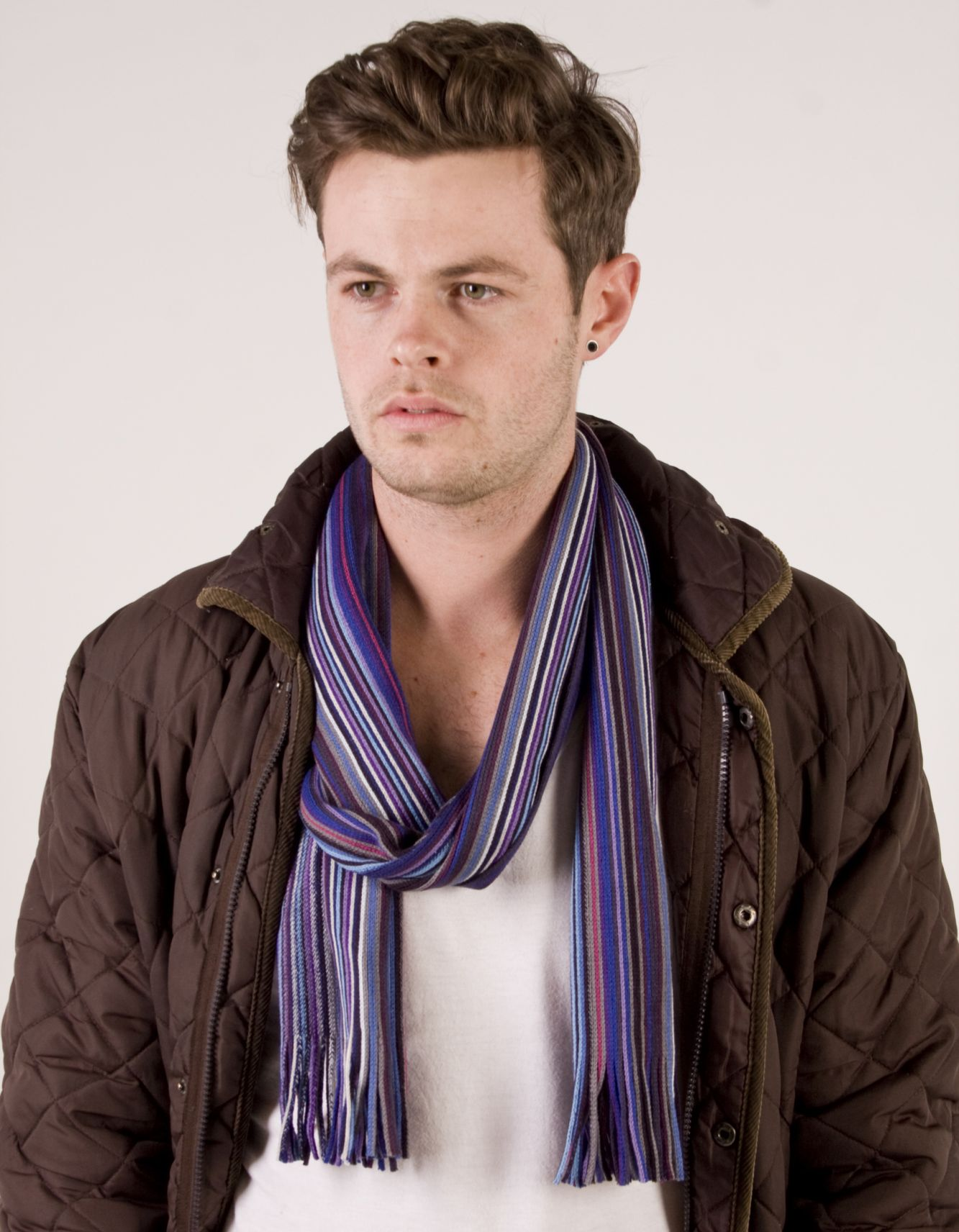 The Tie Bar has a large selection of men's scarves at a great value.